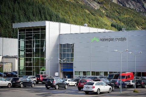 De første ansatte ved Norwegian Crystals er tilbake på jobb igjen, etter å ha blitt permittert i november. Foto: Johan Votvik