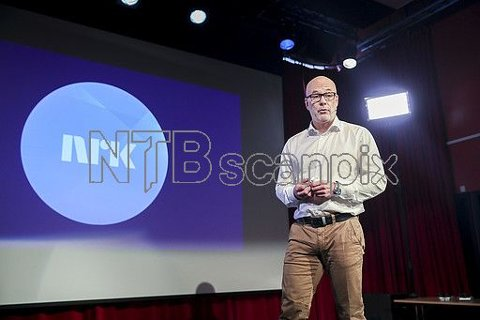 Kringkastingssjef Thor Gjermund Eriksen opplever at NRKs TV-kanaler mister seere. Her under presentasjonen av NRKs høstprogram. Foto: Vidar Ruud / NTB scanpix