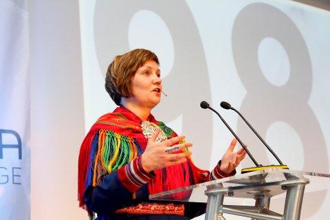Sametingspresident Aili Keskitalo under Agenda Nord-Norge 2014