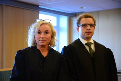 Bistandsadvokat Kristin Fagerheim Hammervik og aktor Alf-Anton Røst.
