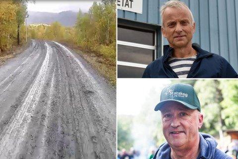 Fauske kommune mener det er Statskog som må utbedre veien i Sulitjelma. Det finner ikke Statskog seg i. Foto: Avisa Nordland/Fauske kommune