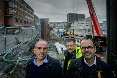LOKALE EIERE: Johnny Wiik, Remi A. Waagan, Geir Vidar Guttormsen, Reidar Nilsen eier nær halvparten av Haaland Nord AS.