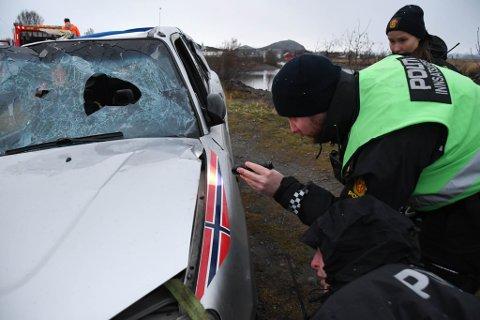 Innsatsleder  Ole Thomas Cappelen hos politiet i Alta. Berging av bil i Altaelva.