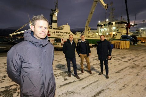FJUEL, IKKE FUEL: Tomas Solstad, Erling Dalberg, Kenneth Holmøy og Jørn-Even Hanssen presenterte det nye selskapet onsdag.