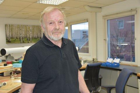 Rune Nøstdahl drev Bodø Dentallaboratorium i Dronningens gate 28 i 2019.