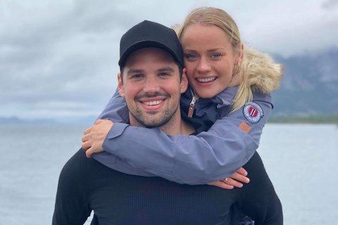 Emir Resulbegovic (28) og samboeren Victoria Ludvigsen (26)