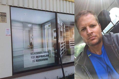 Fortvila: Roald Sindre  Hansen betalte i januar 17 000 kroner for varer hos Garderobe-mannen. Tre måneder senere står han uten både garderoben og pengene mens selskapet har gått konkurs.