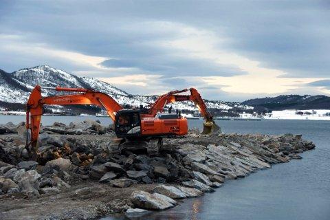 Økt trafikk: Byggingen av den nye dypvannskaia på industriområdet Storskjæret vest vil medføre økt båttrafikk i området. Fra januar 2018 til januar 2019 var det registrert 1603 skipspasseringer gjennom Flagsundet.