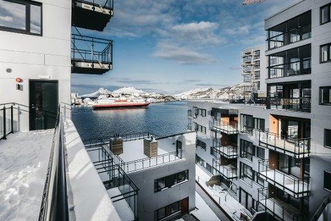 Leilighetsprosjektet i Ramsalt nærmer seg ferdig, og dette er utsikten du kan få fra noen av leilighetene.