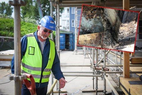 Blir bra: En renovering til opp mot 20 millioner kroner sørger nå for at Zefyrhaugen borettslag i Bodø blir rustet opp i henhold til dagens standard. Råteskadene på det under 20 år gamle bygget var nemlig så ille at man fryktet blokka måtte rives, sier styreleder Svein Møllersen.