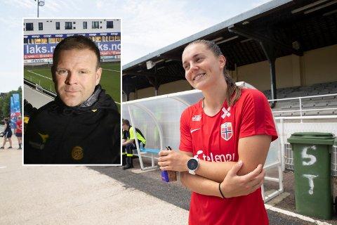 Vilde Bøe Risa takker Glimt-trener Morten Kalvenes for framgangen hun har hatt på fotballbanen.