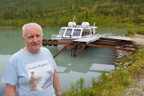 Nedgang: Daglig leder for Explorana Robert Borge synes det er trist at Svartisbåten har så stor nedgang i år.