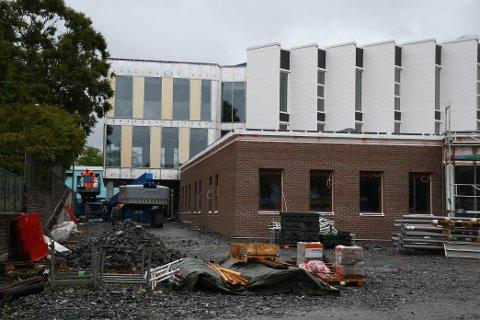 Byggeprosessen ved nye Aspåsen skole har pågått i flere år.