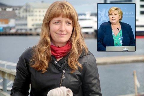 Erna Solberg var ikke fornøyd med KrF-politiker Ingelin Noresjøs tur over grensen.