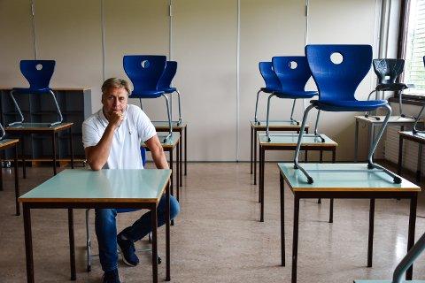REKTOR TIL JUL: Pål Klaveness på Hanstad barne- og ungdomsskole i Elverum håper å være tilbake som rektor ved juletider.