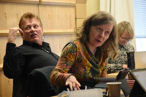 Opposisjonen her representert ved Hilde Dybwad (Ap) og Per Gunnar Skotåm (R) Foto: Christian A. Unosen
