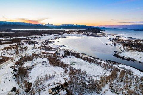Fauske kommune selger tomt på 31.000 kvadratmeter. Foto: Sikt Bolig