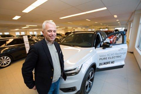 Daglig leder Frode Holand hos Bil i Nord i Bodø. Volvo XC40 er bestselegeren i januar 2021 og Volvo topper statistikken lokalt ut februar måned.