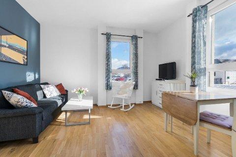 Den 38 kvadratmeter store leiligheten ble solgt for 680.000 kroner over antydning.