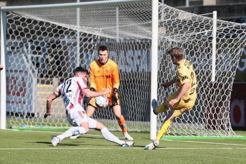 Sondre Sørli kunne med litt marginer på sin side scoret to ganger før pause mot Tromsø.