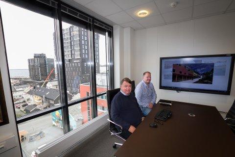 Daglig leder og styreleder Roy B. Nilssen og prosjektutvikler/prosjektleder Bernt Hargaut  i Corponor AS.