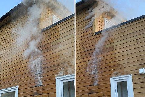 Sent tirsdag kveld  ble et hybelhus på Inndyr i Gildeskål kommune forsøkt påtent. Inne lå flere ungdommer og sov. Foto: Privat