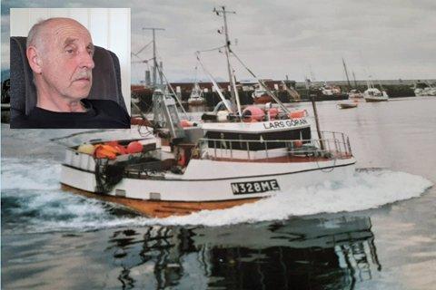 "Leif Ulriksen og båten ""Lars Gøran"""