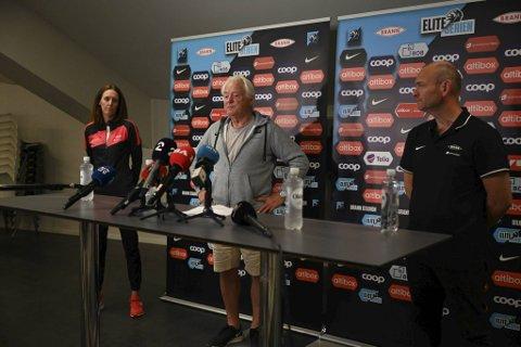 Vibeke Johannesen, Birger Grevstad og Jimmi Nagel Jacobsen møtte pressen mandag kveld.
