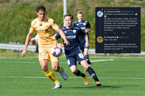 Sigurd Kvile og Glimt tok seg enkelt videre fra 1. runde mot Rana FK. Nå blir det lokalderby i 2. runde.