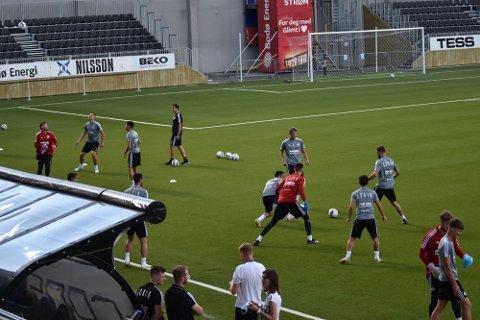 Legia ble overrasket av varmen i Bodø. Det kan snu på kampdagen.