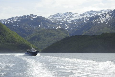 SAMFUNNSBÅT: Hurtigbåten som nå trafikkerer Tysfjordbassenget er en kombinasjon av personbåt og ambulansebåt. Det skal ha fungert dårlig i sommer.