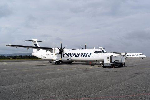 På plass: I begynnelsen av september var det finske selskapet på plass i Bergen. Siden har de vært innom flyplassene de skal operere fra på nordvestlandet og gjort seg kjent. Nå blir ATR-maskinene å se det neste halve året på Widerøes ruter.