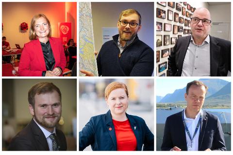 Ida Pinnerød (Ap), Bent-Joacim Bentzen (Sp), Odd Roger Enoksen (Sp), Willfred Nordlund (Sp), Åshild Pettersen (SV) og Tomas Norvoll (Ap).