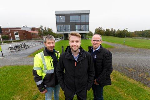 Fra venstre: Reidar Nilsen - avdelingsleder i Haaland Nord,  Martin Pettersen avdelingsleder Hent i Bodø og Remi Wågan administrerende direktør i Haaland Nord AS.