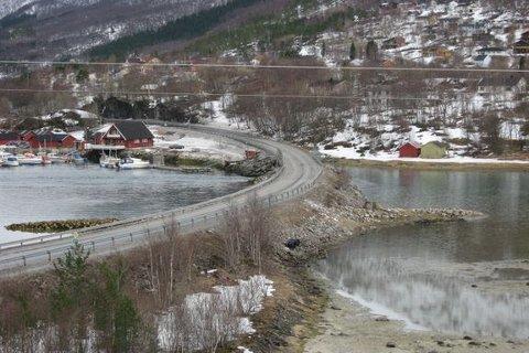 Strømmen bru på E6 i Sørfold.