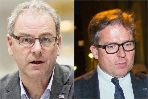 Dag Skansen (til venstre) sto i bresjen for snuoperasjonen etter at Martin Smith-Sivertsen (til høyre) opprinnelig støttet kuttet i politikerlønningene.