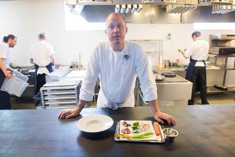 Christopher Haatuft, kjøkkensjef på Lysverket, synes nivået på restauranter i Bergen er veldig høyt.
