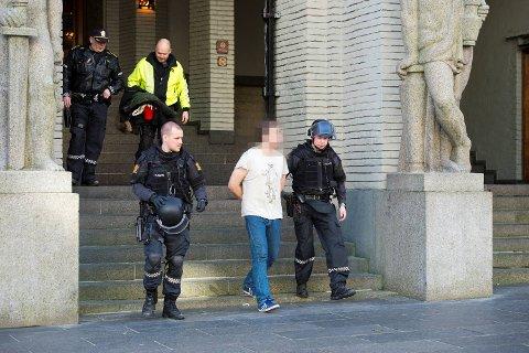 Mannen ble pågrepet inne på tinghuset i Bergen. FOTO: MAGNE TURØY