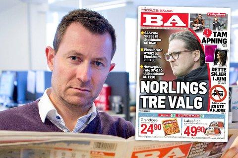 Denne forsiden har skapt reaksjoner torsdag. – Det har ikke vært vår intensjon å være nedlatende eller ufin, sier ansvarlig redaktør Anders Nyland (bildet).