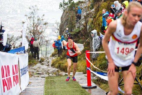 Denne helgen er det Stoltzekleiven Opp igjen. Her et bilde av blant andre Jeanette Amundsen fra konkurransen i 2014.