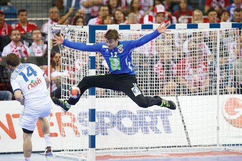 Ole Erevik storspilte i mål da Norge tok seg videre til semifinale etter 29-24-seier mot Frankrike.