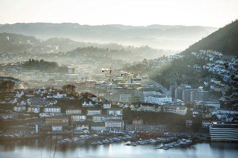 Fredag er det nok en gang dårlig luftkvalitet i Bergen.