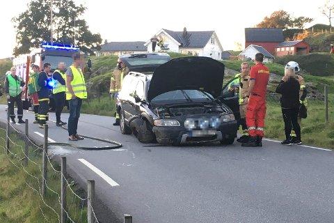 Det var kun ett kjøretøy involvert i ulykken.