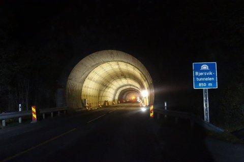 Bjørsviktunnelen blir helt stengt.