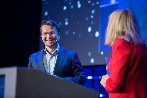 McKinsey Norge-direktør Martin Bech Holte inntok scenen under Bergen Næringsråds årskonferanse i Grieghallen fredag.