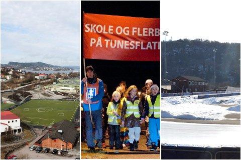 Laksevåg bydel, Tunesflaten i Ytrebygda og Slåtthaug i Fana.