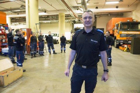 Sivilforsvarsinspektør Eivind Hovden er operasjonsleder i Sivilforsvaret i Hordaland i forbindelse med ekstremværet.