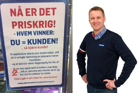Kjøpmann Jarle Lilletvedt ved Rema 1000 på Skjold.