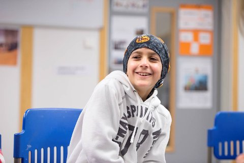 Mohamad Alkhalil (9) var et stort smil etter første time på skolen.