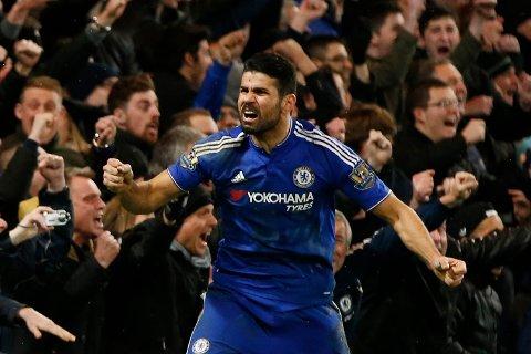 Diego Costa utlignet for Chelsea på overtid.